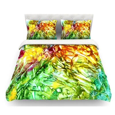 Kaleidoscope by Rosie Brown Featherweight Duvet Cover Size: Queen