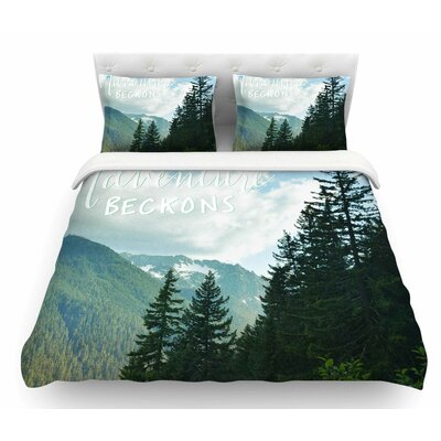 Adventure Beckons by Robin Dickinson Nature Landscape Featherweight Duvet Cover Size: Twin