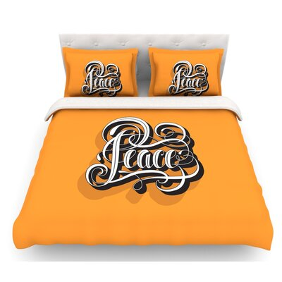 Peace by Roberlan Featherweight Duvet Cover Size: King