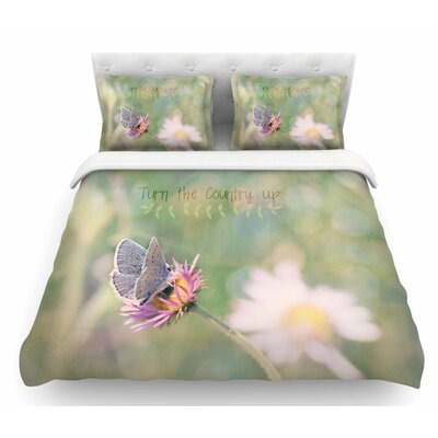 Turn the Country Up by Robin Dickinson Featherweight Duvet Cover Size: Queen
