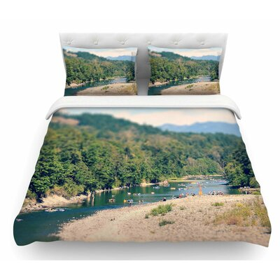 Summertime Float by Robin Dickinson River Featherweight Duvet Cover Size: Twin