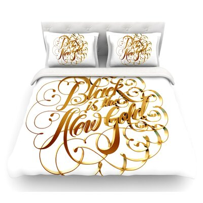 The New Gold by Roberlan Featherweight Duvet Cover Size: Queen