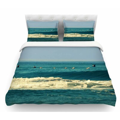 Break Free and Soar by Robin Dickinson Ocean Wave Featherweight Duvet Cover Size: Queen