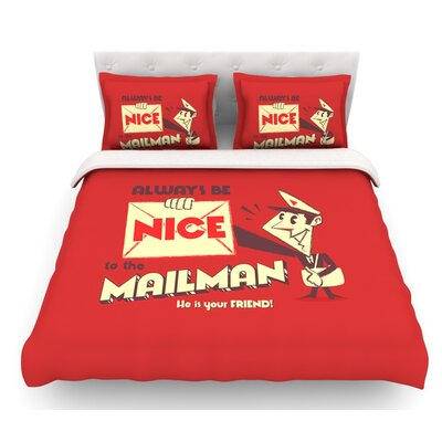 Be Nice to the Mailman by Roberlan Featherweight Duvet Cover Size: King