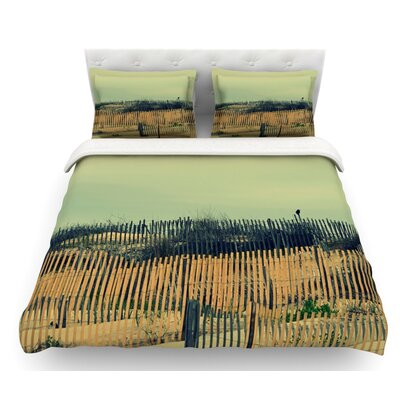 Carova Dunes by Robin Dickinson Beach Featherweight Duvet Cover Size: Twin