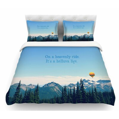 Its a Helluva Life by Robin Dickinson Mountain Featherweight Duvet Cover Size: King
