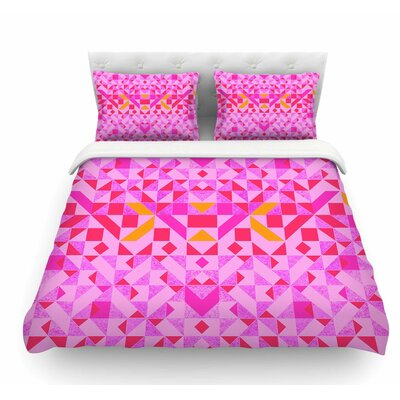 Candy Geometric by Vasare Nar Geometric Featherweight Duvet Cover Size: Queen