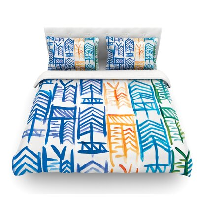 Quiver II by Theresa Giolzetti Featherweight Duvet Cover Size: King