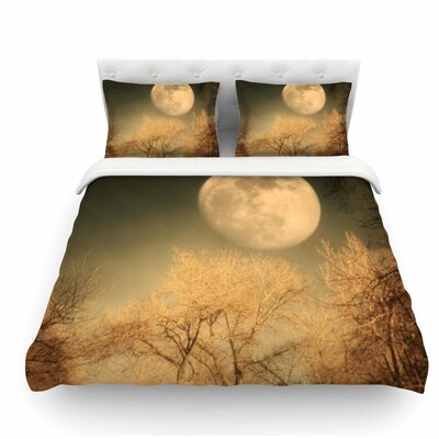 Full Moon by Sylvia Coomes Nature Featherweight Duvet Cover Size: Twin