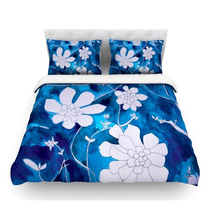 Succulent Dance 1 by Theresa Giolzetti Featherweight Duvet Cover Size: Queen