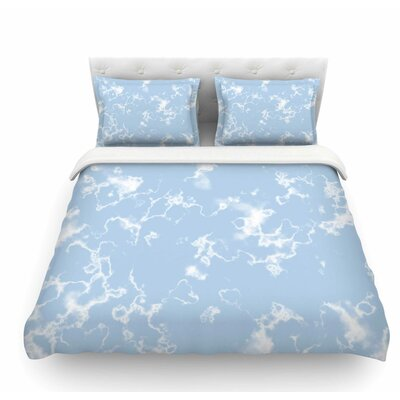 Marble Clouds by Vasare Nar Featherweight Duvet Cover Size: Twin