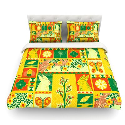 Spring by Tobe Fonseca Seasonal Featherweight Duvet Cover Size: King