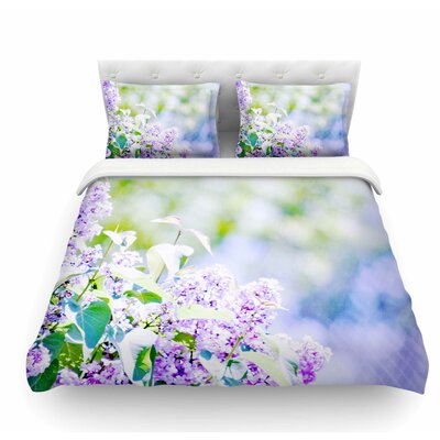 Hazy Flowers by Sylvia Coomes Nature Featherweight Duvet Cover Size: Twin