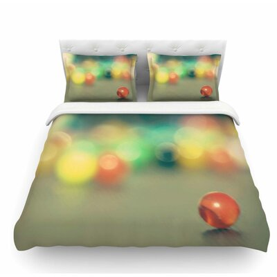 Marble Bokeh by Sylvia Coomes Abstract Featherweight Duvet Cover Size: Queen