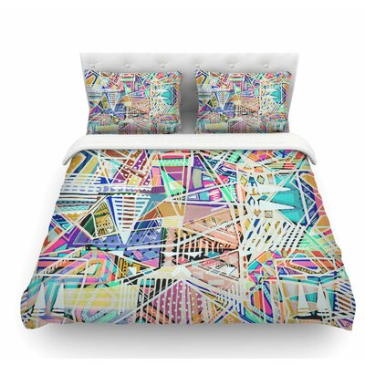 Abstract Geometric Playground by Vasare Nar Pastel Featherweight Duvet Cover Size: Twin