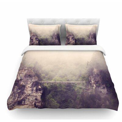 Foggy Mountain Landscape by Sylvia Coomes Featherweight Duvet Cover Size: King