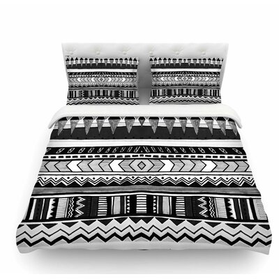 Tribal by Vasare Nar Geometric Featherweight Duvet Cover Size: Queen