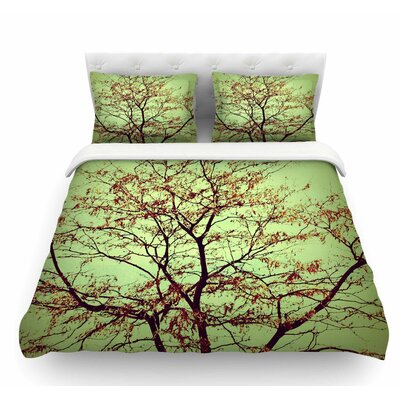Modern Fall Tree by Sylvia Coomes Featherweight Duvet Cover Size: Twin
