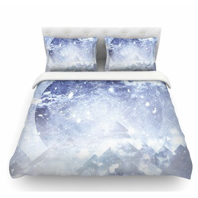 Even Mountains Get Cold by Ulf Harstedt Featherweight Duvet Cover Size: Queen