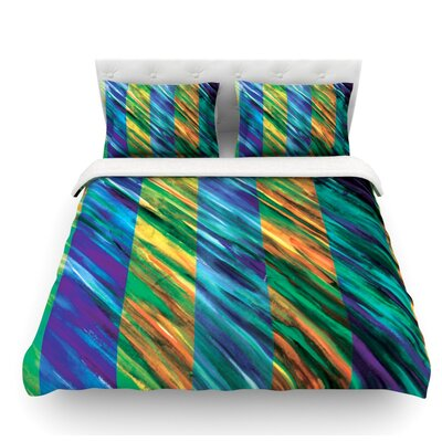 Set Stripes Ii Featherweight Duvet Cover Size: Queen