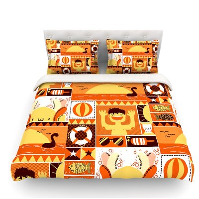 Summer by Tobe Fonseca Seasonal Featherweight Duvet Cover Size: Twin
