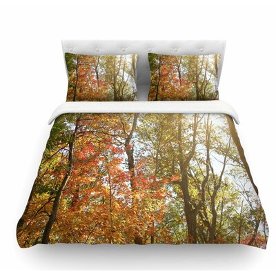 Autumn Trees 1 by Sylvia Coomes Featherweight Duvet Cover Size: Queen