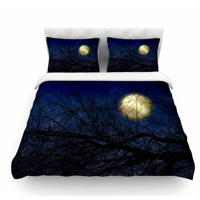Moon by Sylvia Coomes Celestial Featherweight Duvet Cover Size: Twin