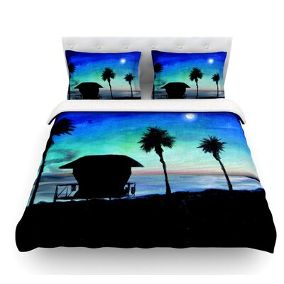 Carlsbad State Beach by Theresa Giolzetti Featherweight Duvet Cover Size: King
