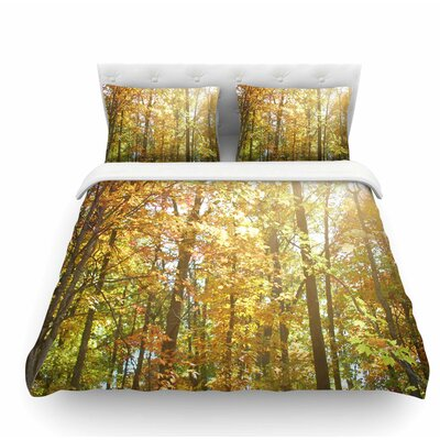 Autumn Trees 2 by Sylvia Coomes Featherweight Duvet Cover Size: Queen