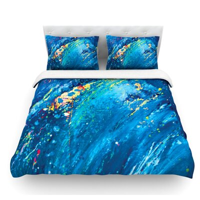 Big Wave by Theresa Giolzetti Featherweight Duvet Cover Size: King