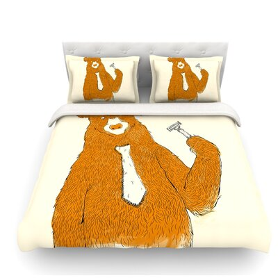 Work by Tobe Fonseca Bear Featherweight Duvet Cover Size: King