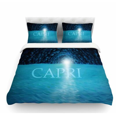 The Grotto of Capri by Theresa Giolzetti Featherweight Duvet Cover Size: Twin