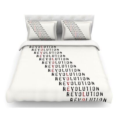 Revolution by Skye Zambrana Featherweight Duvet Cover Size: Queen