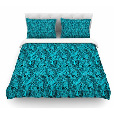 Zentangle Mystic by Shirlei Patricia Muniz Abstract Featherweight Duvet Cover Size: King