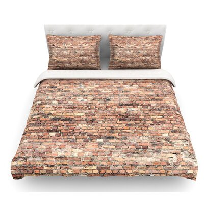 Rustic Bricks by Susan Sanders Featherweight Duvet Cover Size: King