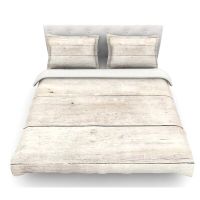 White Wash Wood by Susan Sanders Featherweight Duvet Cover Size: King