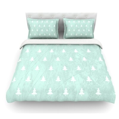 Pine Pattern by Snap Studio Featherweight Duvet Cover Size: Twin, Color: Aqua/Blue