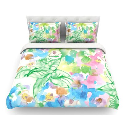 Leaf Bouquet by Sonal Nathwani Featherweight Duvet Cover Size: Queen