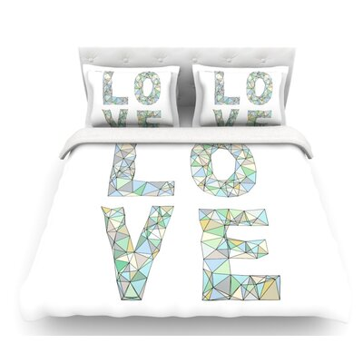 Four Letter Word by Skye Zambrana Featherweight Duvet Cover Size: Twin