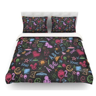 Kindergarden Crazy by Snap Studio Rainbow Featherweight Duvet Cover Size: Queen