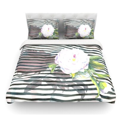 Peony by S. Seema Z Featherweight Duvet Cover Size: Queen