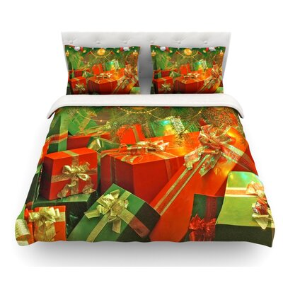 Wrapped in Cheer by Snap Studio Presents Featherweight Duvet Cover Size: Queen