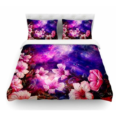 Space Flowers by Shirlei Patricia Muniz Featherweight Duvet Cover Size: King