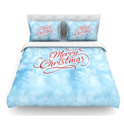 Merry Christmas by Snap Studio Featherweight Duvet Cover Size: Queen