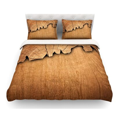 Natural Wood by Susan Sanders Rustic Nature Featherweight Duvet Cover Size: King