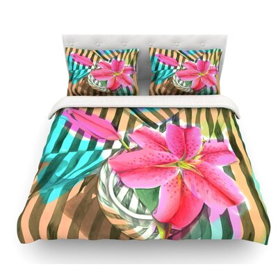 Lilly N Stripes by S. Seema Z Featherweight Duvet Cover Size: Twin