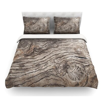 Tree Bark by Susan Sanders Wooden Featherweight Duvet Cover Size: King