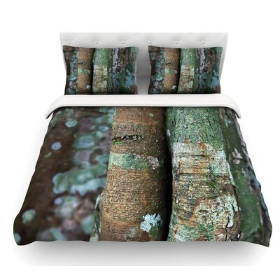 Into the Woods by Susan Sanders Rustic Featherweight Duvet Cover Size: Queen