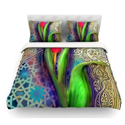 Arabesque Tulip by S. Seema Z Featherweight Duvet Cover Size: Twin
