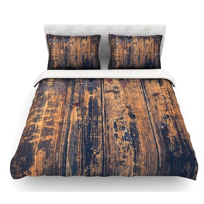 Barn Floor by Susan Sanders Rustic Featherweight Duvet Cover Size: Queen